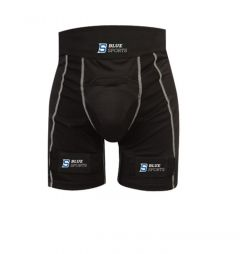 Blue Sports Compression Jock Pro Shorts With Cup and Velcro Senior KUBEMEKAITSMED