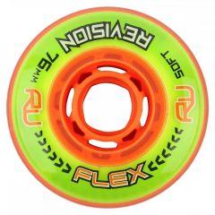 Revision FLEX GREEN/ORANGE SOFT Inline Skate Wheels